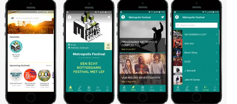 Metropolis app in TimeSquare